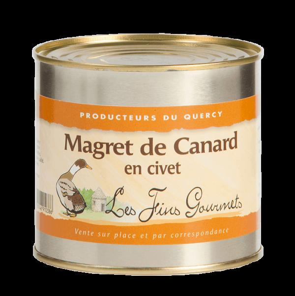 Magret de canard en civet 600g
