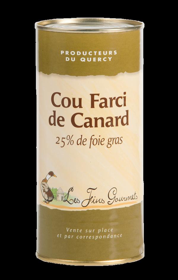 Cou farci au foie de canard (25% de foie gras) - 6 parts - 350g