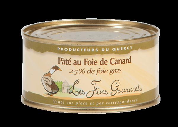 Pâté au foie de canard (25% de foie gras) - 4 à 5 parts - 200g