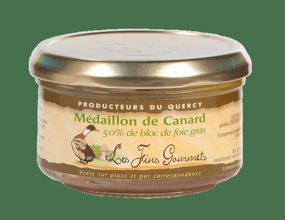 Médaillon au foie de canard - 2 à 3 parts - 140g - (50% de bloc de foie gras)