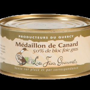 Médaillon au foie de canard - 4 à 5 parts - 200g - (50% de bloc de foie gras)