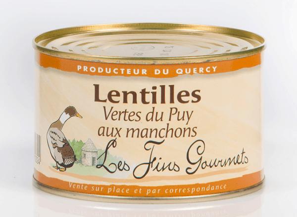 Lentilles vertes du Puy aux manchons 400g