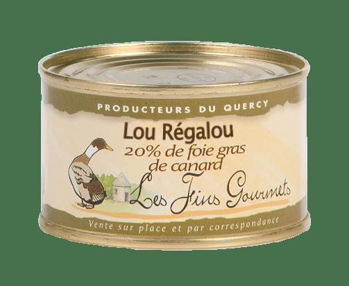 """Pâté """"Lou Régalou"""" au foie de canard (20% de foie gras) - 2 à 3 parts - 130g"""