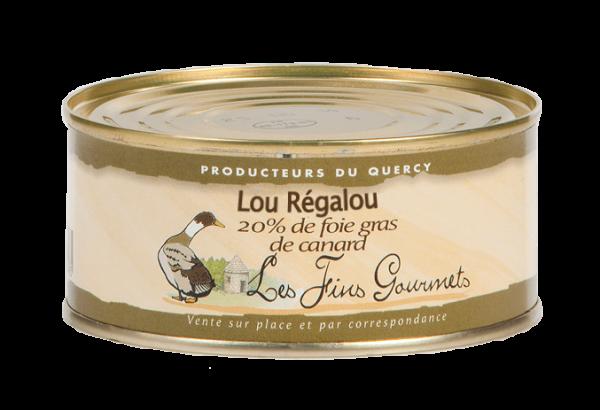 """Pâté """"Lou Régalou"""" au foie de canard (20% de foie gras) - 4 à 6 parts - 280g"""