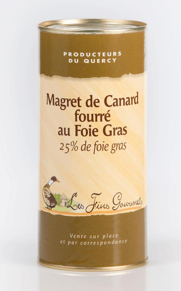 Magret de canard fourré au foie gras - 6 parts - 320g