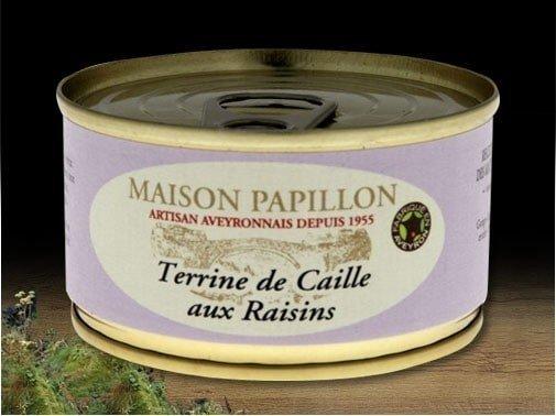 Terrine de caille aux raisins - 130g