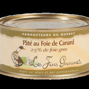 Pâté au foie de canard (25% de foie gras) - 1 à 2 parts - 70g