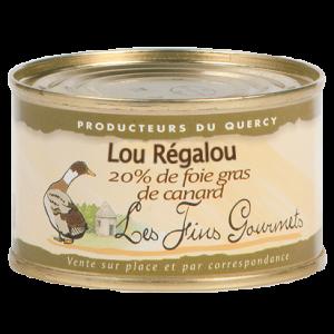 """Pâté """"Lou Régalou"""" au foie de canard (20% de foie gras) - 1 à 2 parts - 70g"""
