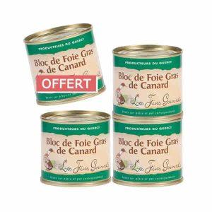 4 blocs de foie gras 100g pour le prix de 3