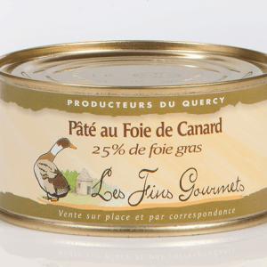 Pâté au foie de canard (25% de foie gras) - 2 à 3 parts - 130g